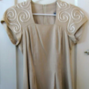 Jessica Howard Mitchell Rodbell Lined Linen Dress